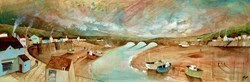 Harbour Panorama by Keith Athay -  sized 47x16 inches. Available from Whitewall Galleries